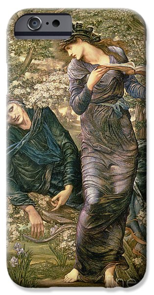 Seductive iPhone Cases - The Beguiling of Merlin iPhone Case by Sir Edward Burne-Jones