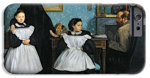 The Clock iPhone Cases - The Bellelli Family iPhone Case by Edgar Degas