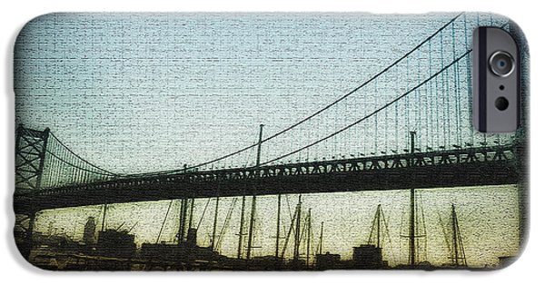 Franklin iPhone Cases - The Ben Franklin Bridge iPhone Case by Bill Cannon