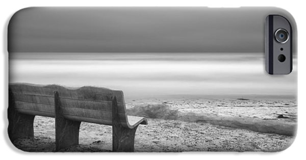 Sea iPhone Cases - The Bench iPhone Case by Larry Marshall