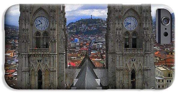 Lucifer iPhone Cases - The Best View In Quito Ecuador IV iPhone Case by Al Bourassa