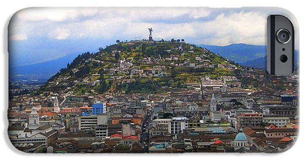 Lucifer iPhone Cases - The Best View In Quito II iPhone Case by Al Bourassa