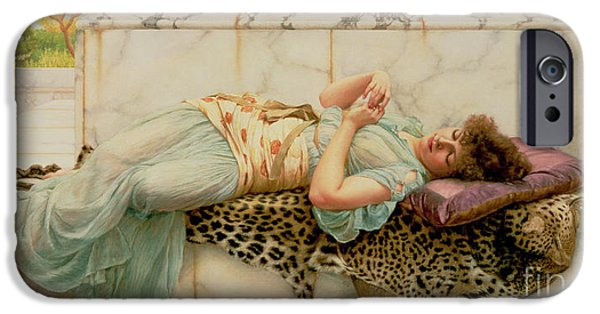 Love The Animal iPhone Cases - The Betrothed iPhone Case by John William Godward