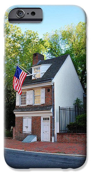 American Revolution Digital Art iPhone Cases - The Betsy Ross House Philadelphia iPhone Case by Bill Cannon