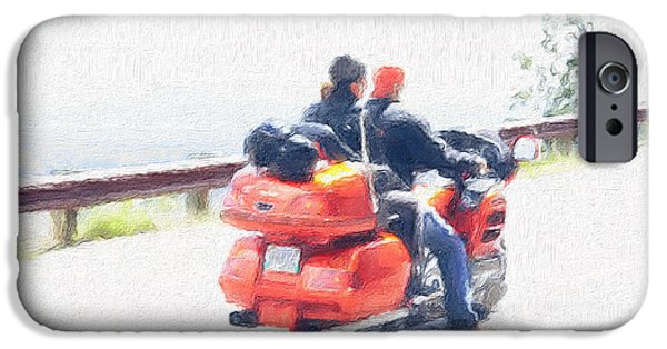 Freedom iPhone Cases - The Bikers iPhone Case by Sheela Ajith