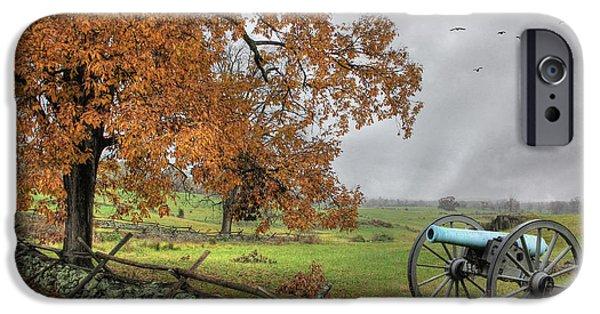 Battle Of Gettysburg Digital iPhone Cases - The Birth of Freedom iPhone Case by Lori Deiter