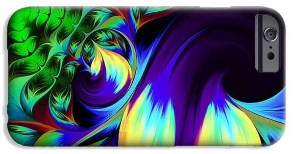 Business Digital iPhone Cases - The Birth Of Nature iPhone Case by Georgiana Romanovna