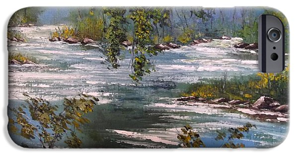 River iPhone Cases - The Birth Of The River iPhone Case by Politov Valeryi