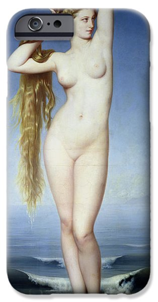 Seductive iPhone Cases - The Birth of Venus iPhone Case by Eugene Emmanuel Amaury Duval