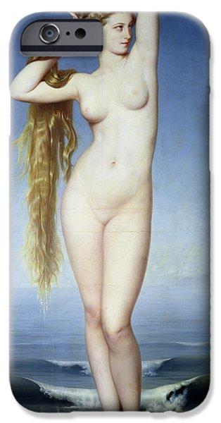 Myth iPhone Cases - The Birth of Venus iPhone Case by Eugene Emmanuel Amaury Duval