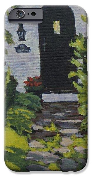 Pathway iPhone Cases - The Black Door iPhone Case by Bill Tomsa