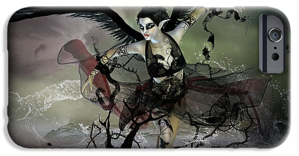 Swans... iPhone Cases - The Black Swan iPhone Case by Karen K