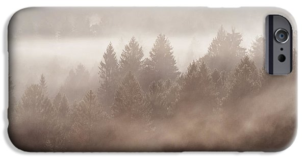 Pine Tree iPhone Cases - The blow of the forest iPhone Case by Yuri Santin