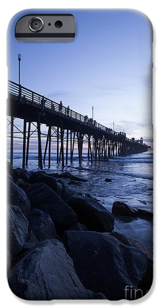 Ocean Sunset iPhone Cases - The Blue Hour iPhone Case by Ana V  Ramirez