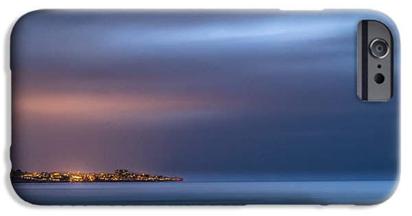 Fireworks iPhone Cases - The Blue Jewel - La Jolla iPhone Case by Peter Tellone