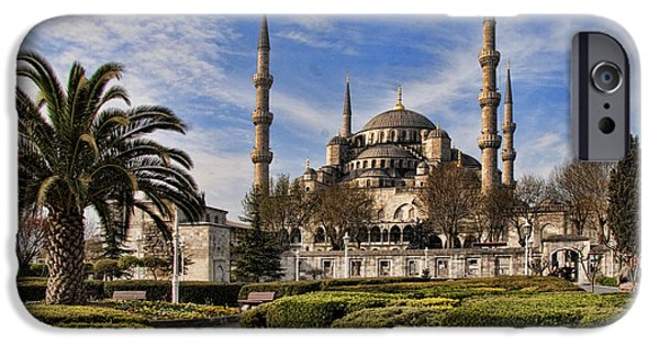 Historic Site iPhone Cases - The Blue Mosque in Istanbul Turkey iPhone Case by David Smith