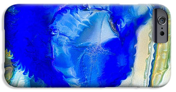Ceramic Mixed Media iPhone Cases - The Blues iPhone Case by Omaste Witkowski
