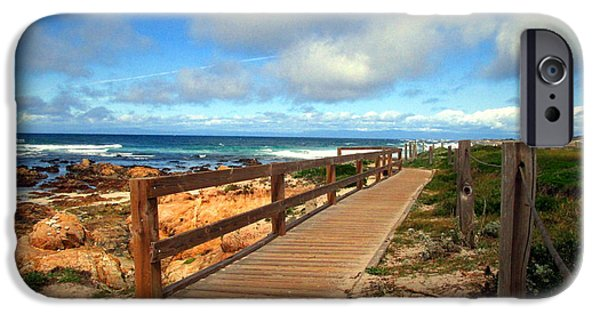 Mist iPhone Cases - The Boardwalk At Asilomar State Beach iPhone Case by Joyce Dickens