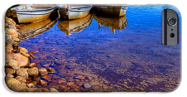 David iPhone Cases - The Boats on White Lake iPhone Case by David Patterson