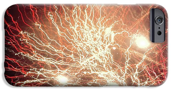 Fourth Of July iPhone Cases - The Bombs Bursting in Air iPhone Case by Tim Richards