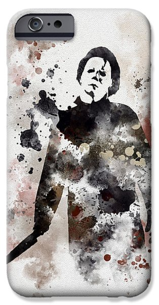 Michael Mixed Media iPhone Cases - The Boogeyman iPhone Case by Rebecca Jenkins
