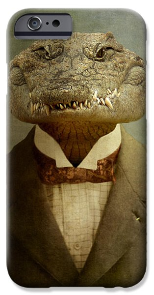 Reptiles iPhone Cases - The Boss iPhone Case by Martine Roch