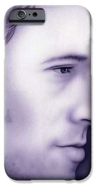Bruce Springsteen Paintings iPhone Cases - The Boss iPhone Case by Randy Flook