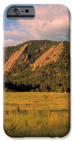 The Boulder Flatirons iPhone Case by Jerry McElroy