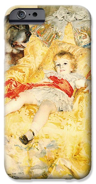 Little Girl iPhone Cases - The Boy Falbe iPhone Case by Anders Zorn