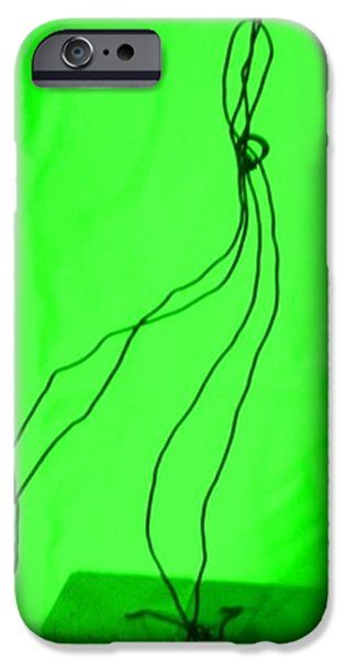 Abstract Digital Sculptures iPhone Cases - The Bride Green iPhone Case by Giuseppe Cavallo
