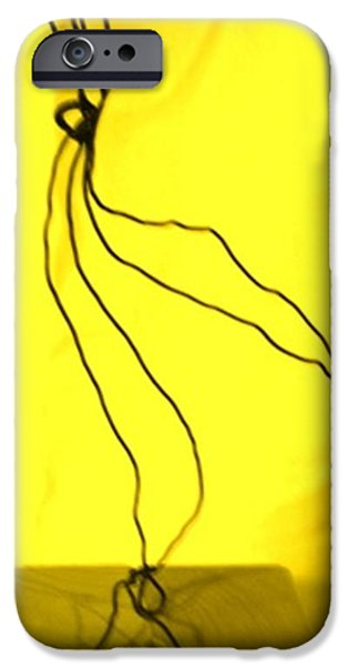 Abstract Digital Sculptures iPhone Cases - The Bride Yellow iPhone Case by Giuseppe Cavallo