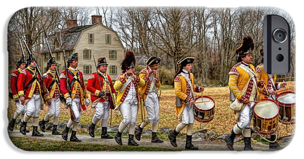 Concord Ma. iPhone Cases - The British are coming iPhone Case by Larry  Richardson