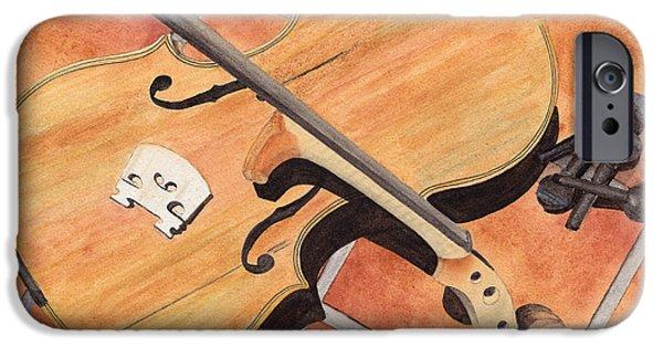 Violin iPhone Cases - The Broken Violin iPhone Case by Ken Powers