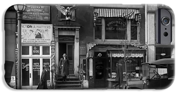 1916 Photographs iPhone Cases - The Brooklyn Eagle Newspaper Building 1916 iPhone Case by Library Of Congress