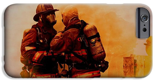Charlotte Pyrography iPhone Cases - The Brotherhood iPhone Case by Diane Payne