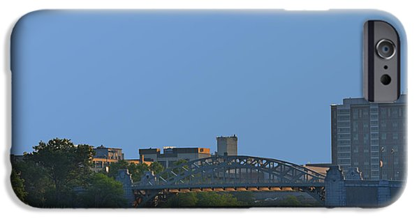 Boston Ma iPhone Cases - The BU Bridge and train tracks iPhone Case by Toby McGuire
