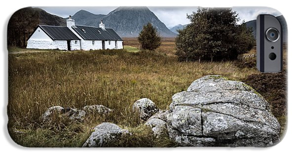Drama iPhone Cases - Blackrock and The Buachaille iPhone Case by Dave Bowman