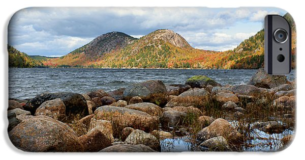 Jordan iPhone Cases - The Bubbles #1 - Jordan Pond - Acadia National Park iPhone Case by Nikolyn McDonald