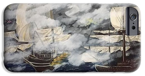 Pirate Ship iPhone Cases - The Buccaneers  iPhone Case by Tim Dobert