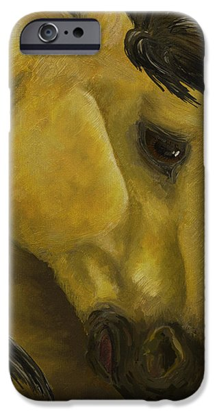 Fury iPhone Cases - The Buckskin Revisited iPhone Case by K Simmons Luna