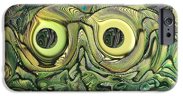 Abstract Digital iPhone Cases - The Bug iPhone Case by Ernie Echols