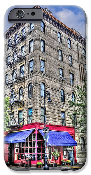 Recently Sold -  - Village iPhone Cases - The Building Used for the TV Show Friends iPhone Case by Randy Aveille