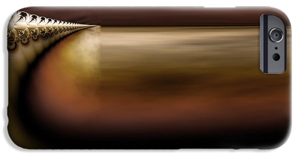 Abstract Digital iPhone Cases - The Bullet Train Arrives at Dusk - Abstract Art iPhone Case by Vic Eberly