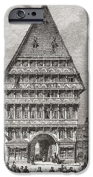 Guild iPhone Cases - The Butchers  Guild Hall, Market Place iPhone Case by Ken Welsh
