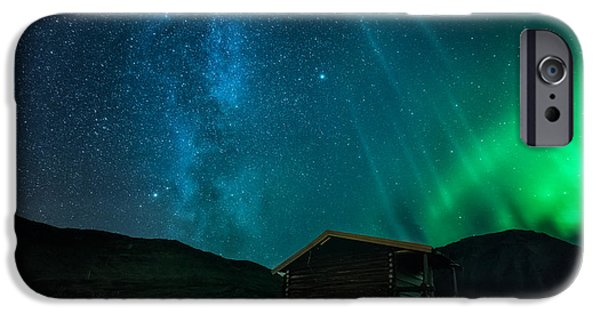 Mountain Cabin iPhone Cases - The cabin iPhone Case by Tor-Ivar Naess