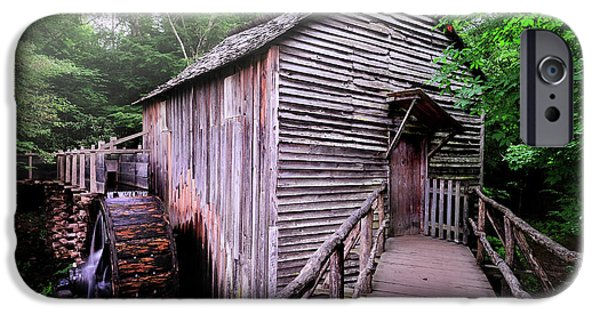 Tennessee Historic Site iPhone Cases - The Cable Grist Mill iPhone Case by Thomas Schoeller