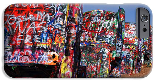 Susanne Van Hulst iPhone Cases - The Cadillac Ranch by Amarillo TX iPhone Case by Susanne Van Hulst