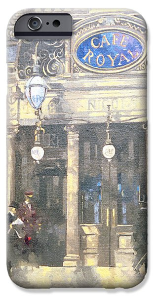 Gas Paintings iPhone Cases - The Cafe Royal iPhone Case by Peter Miller