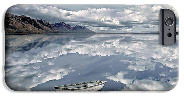 Dreamscape Digital Art iPhone Cases - The Calm iPhone Case by Photodream Art