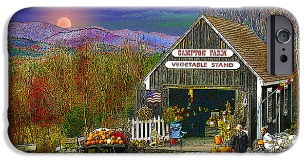 Farm Stand iPhone Cases - The Campton Farm iPhone Case by Nancy Griswold